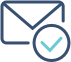 Icon email tick